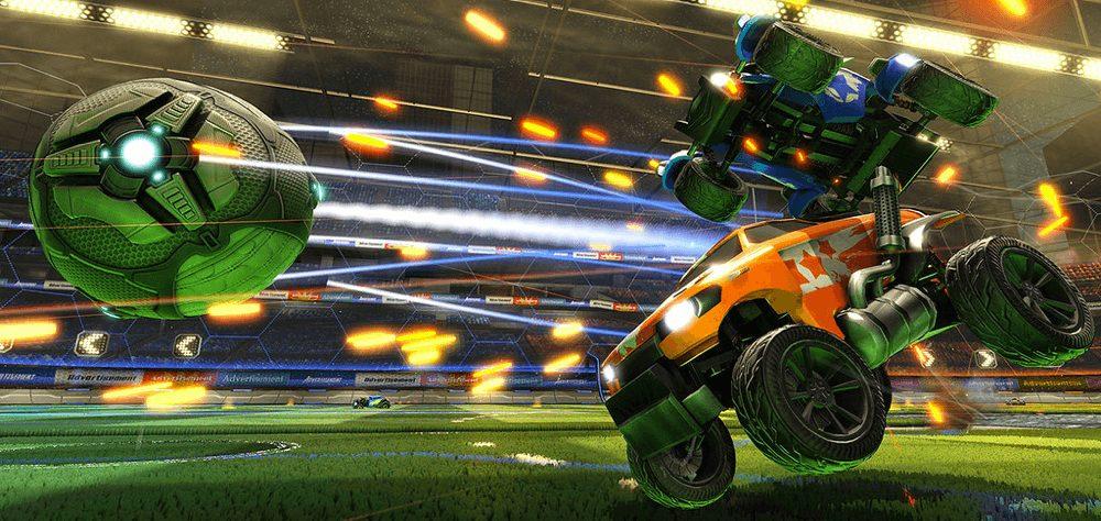 rocket league batteling cars